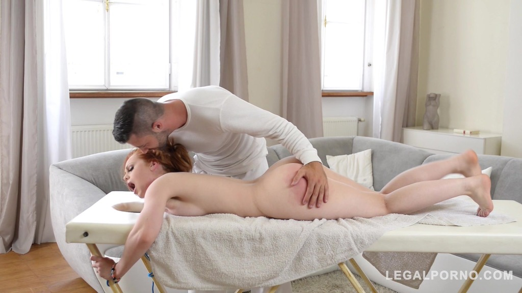 Horny Redhead Ella Hughes is Tied Up, Spanked, Fingered, and Fucked GP184
