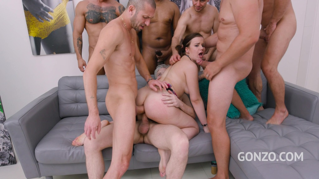 Zara Lick assfucked by 1, 2, 3, 4 guys and then gangbanged by all 10 of them SZ2457