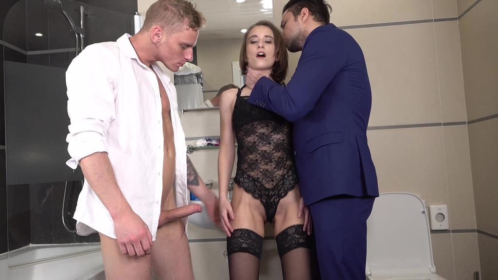 DP Anastasia Mistress - Hard Anal Fuck - Big Anal Gape - Spanking - Stockings VK052