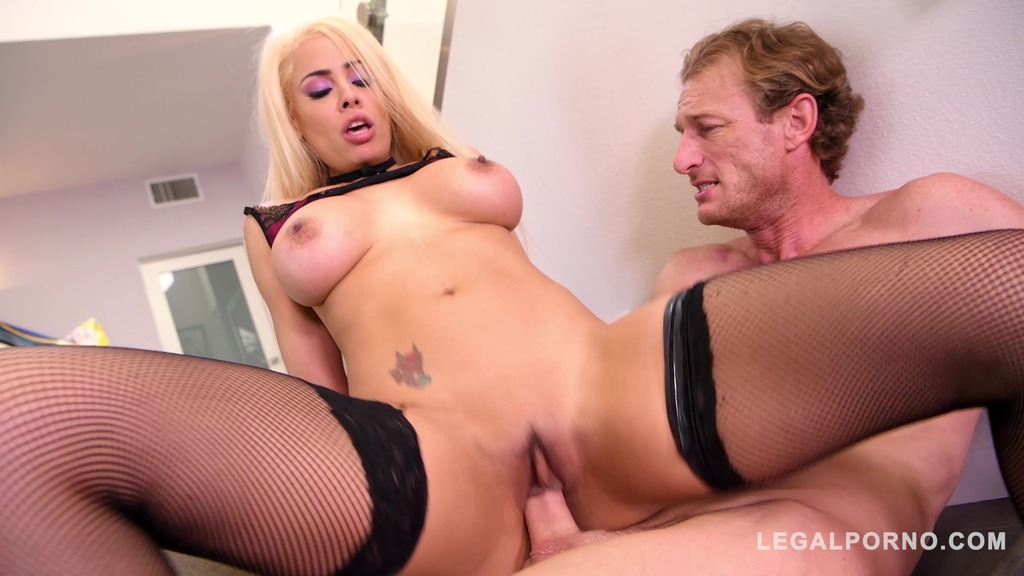 Intense cowgirl rides in the stairway – Luna Star