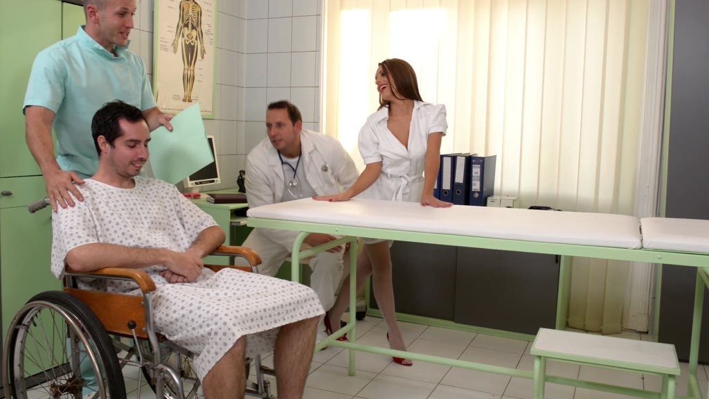Hardcore double penetration in the examination room with Dominica Phoenix GP958