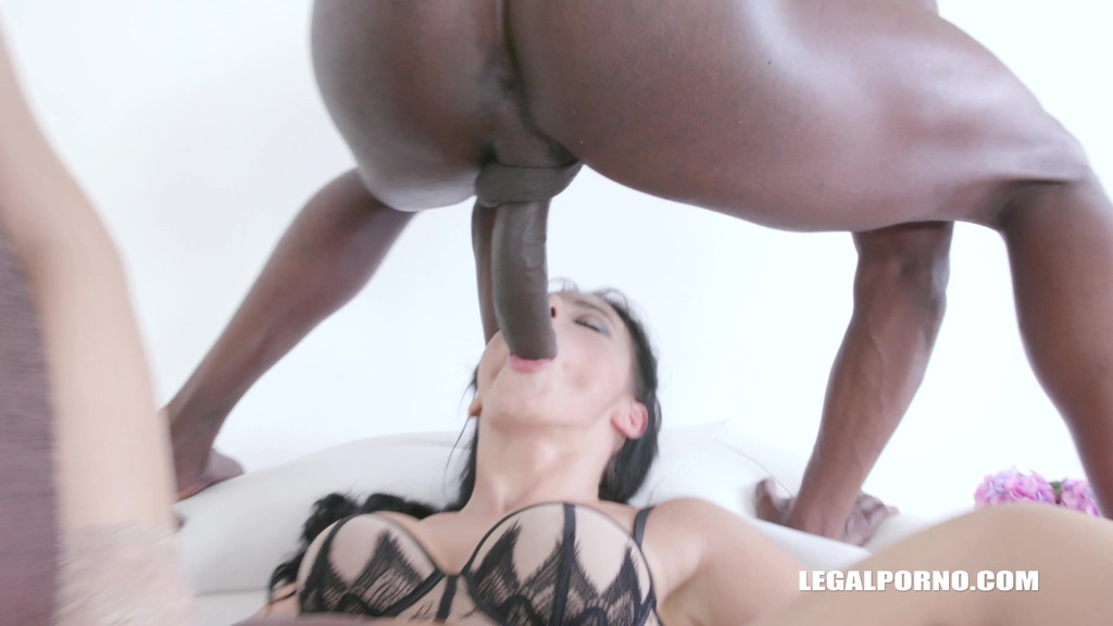 Nelly Kent is back to take two black cocks in the ass IV344