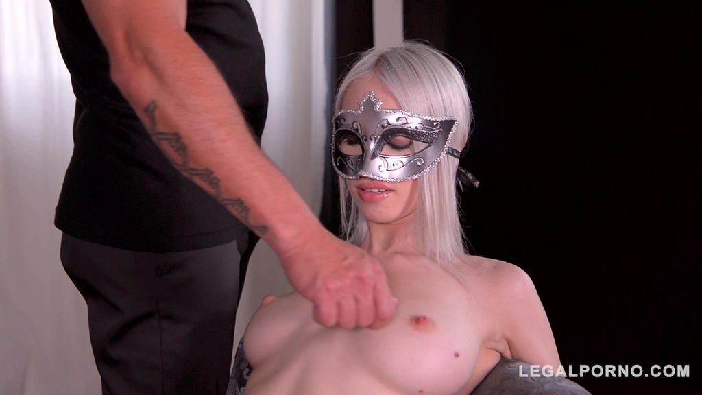 Blonde Babe in Bondage Arteya Has Her Pretty Face and Tight Ass Fucked GP156