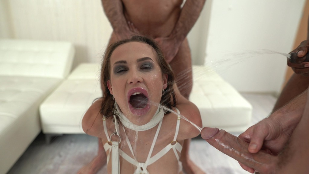 BDSM Nicole Love Bound 4on1 Piss 0%pussy DAP anal, gapes, deepthroat, hardcore, Bound, tied up, facial cumshot & swallow NF076