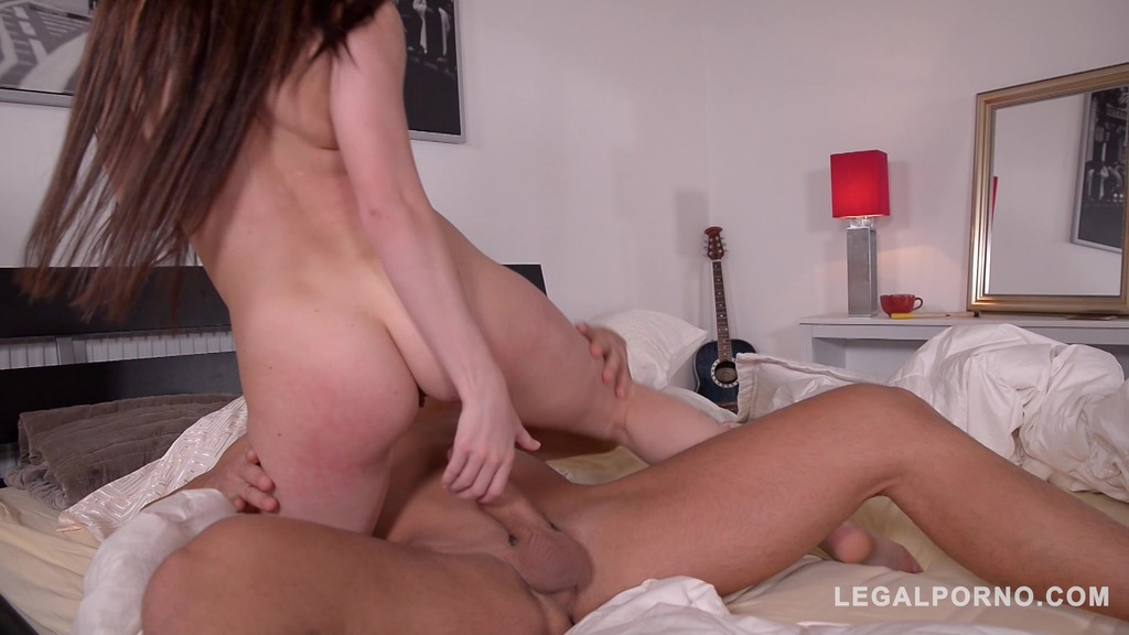 Cassie Fire Fingers her Tight Ass while Riding Big Cock