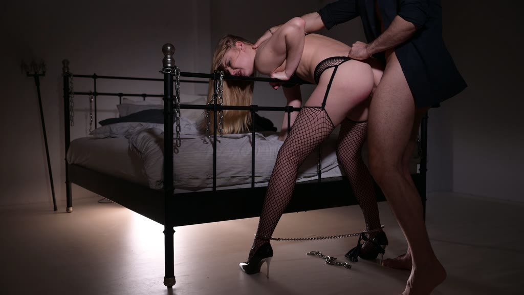 Sexy Russian submissive Lucy Heart handcuffed and ass fucked by her master GP1306