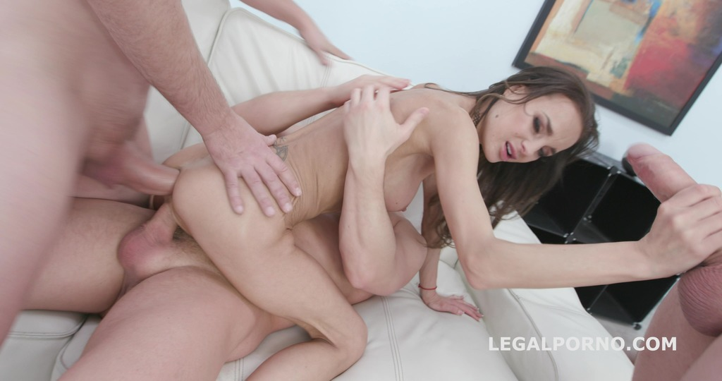 DAP destination Aletta Black gets Balls Deep Anal, DP, DAP, Gapes, Swallow...