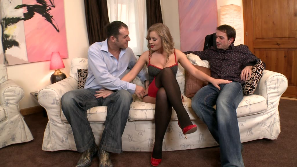 Incredibly sexy Milf Colette gets her pink pussy and tight asshole DP'ed GP1142