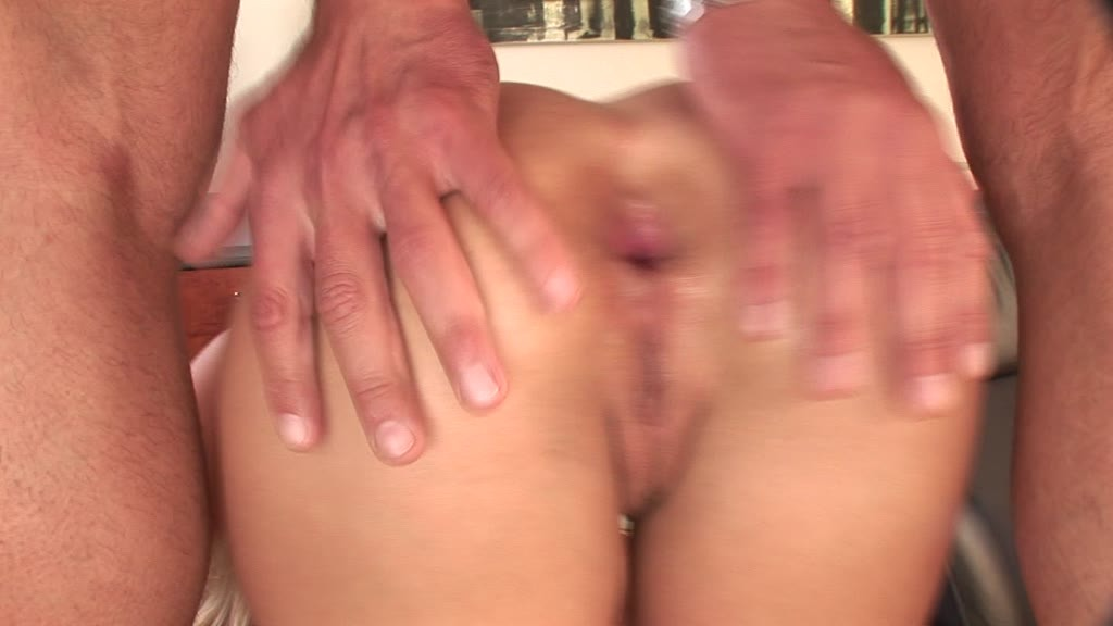 Lusty blonde Kathia Nobili moist pussy and ass filled with fingers and cock...