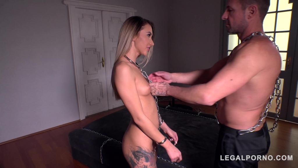 Rough sex in chains makes tattooed subby Katrin Tequila scream and cream GP328