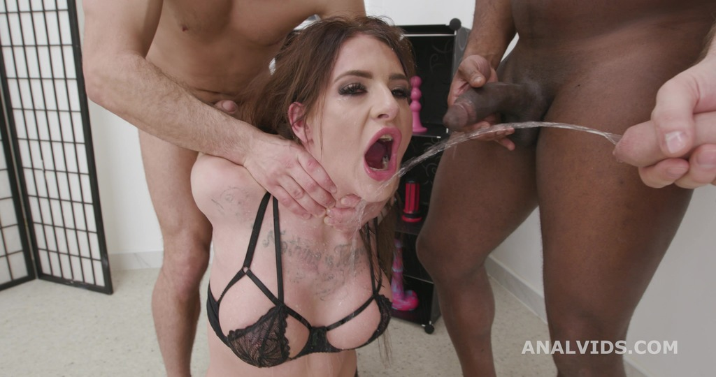 Dapped with Pee, Barbie Esm 4on1 Balls Deep Anal, DAP, Manhandle, Gapes, Pee Drink and Swallow GIO1749