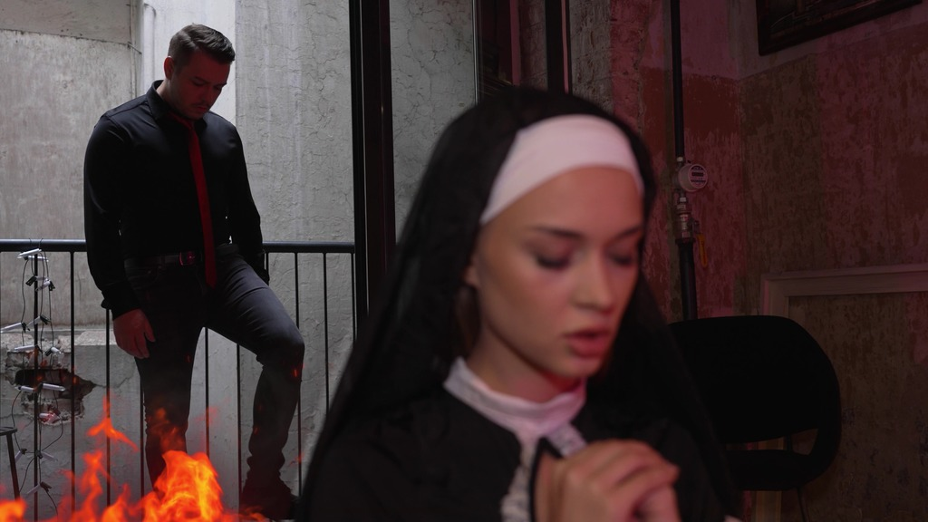 Awakening of a Succubus from the depths of the soul of nun Loren Strawberry! Anal curse NRX134