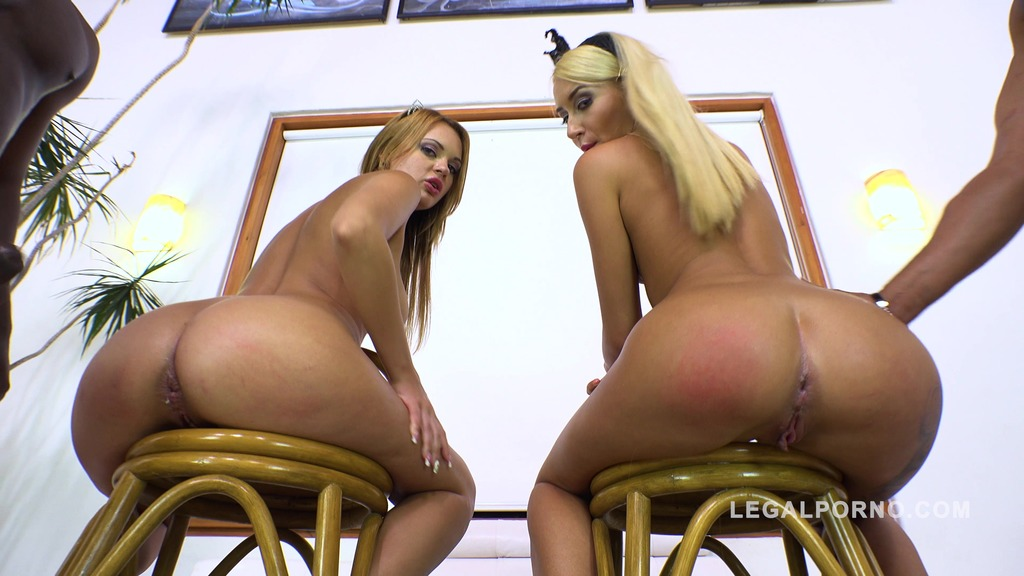 Russian sluts Katrin Tequila & Emily Thorne interracial foursome with intense DP RS249