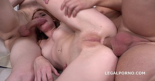 Foxy Lee 2on1 with DP Balls Deep Action, Gapes, Rough Sex, Cum in Mouth GL061 screenshot