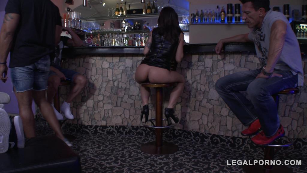 French Bad girl Nikita Bellucci 5on1 slut punishment ( DAP & DPP (double pussy) SZ1394
