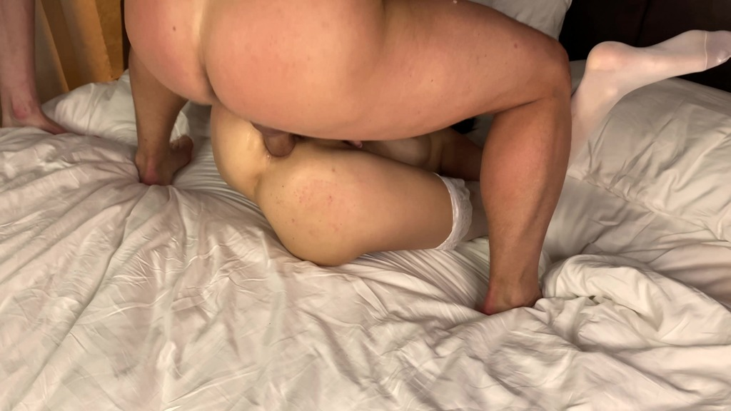 Kate Rich gets her ass and pussy fucked hard by two fat cocks and she cries and moans loudly KRS060