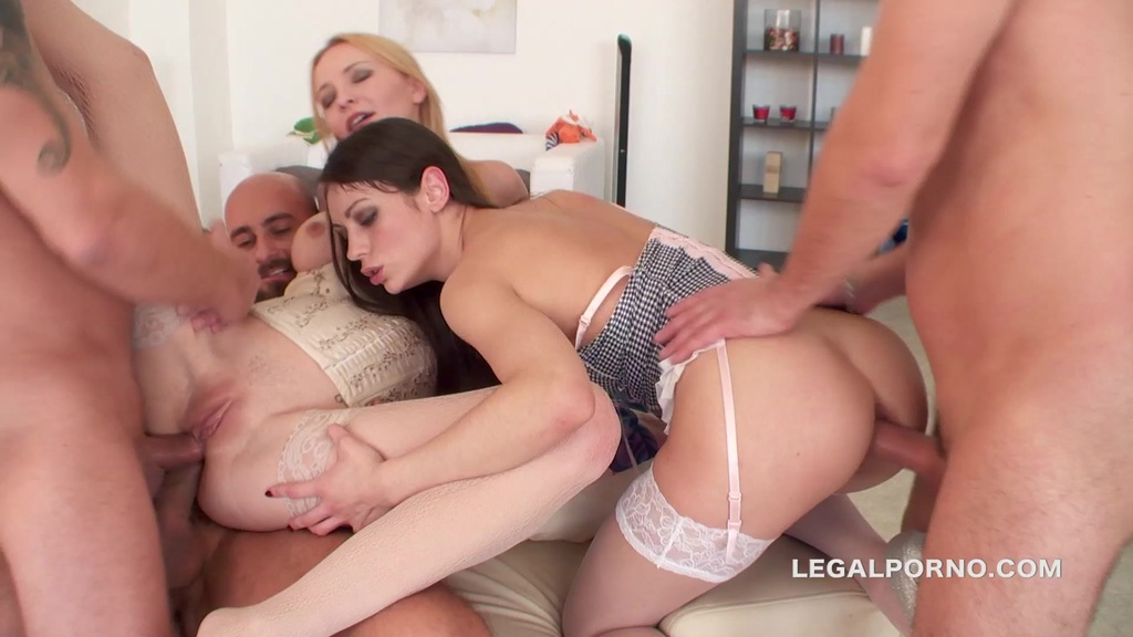 Double Anal Battle. Arwen & Belle finally together getting 2 cocks in the ass. ATM, GAPES BALL DEEP DAP GIO152