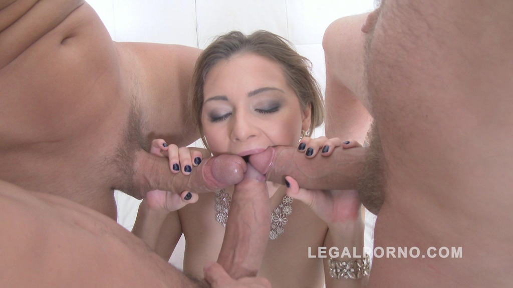 Stunning russian slut Olivia Devine spreads her ass open and gets DAP'ed SZ1106
