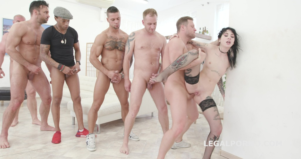 Anal overload #2 Charlotte Sartre gets 6 guys with Balls Deep DAP, Gapes & Facial GIO1088