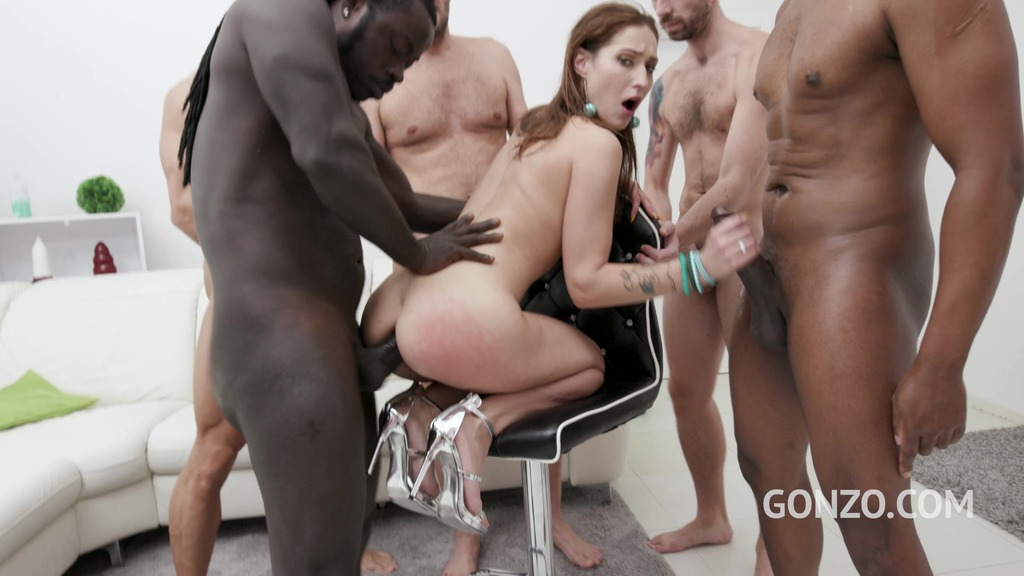 Mina anal and DAP 5on1 with triple penetration and facial SZ2559