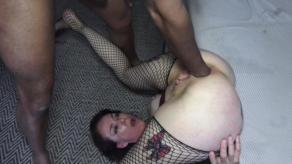 Hardcore sex with BBC, anal destruction, extreme fisting, deep throat with drooling, prolapse and cum on tongue AL027
