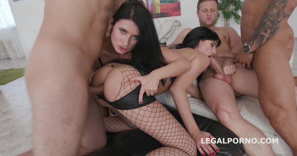 Double Addicted Nicole Black & Daria Zemskaya No Pussy, Balls Deep Anal, DAP,...