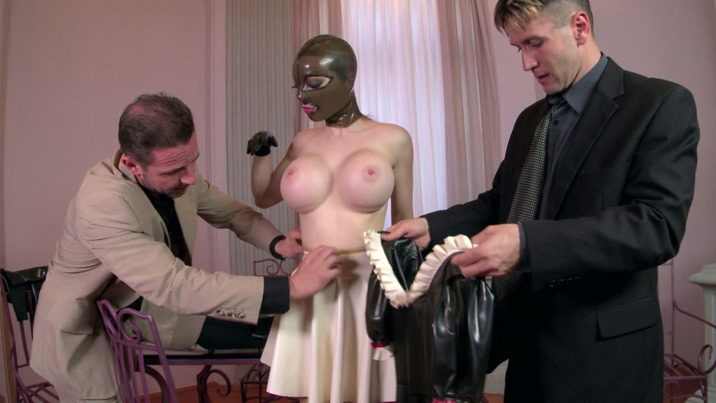 Fetish goddess Latex Lucy's creamy pussy fucked balls deep in hot threesome GP1029