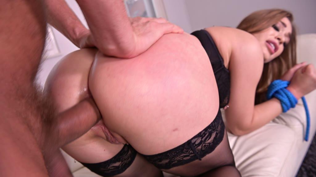 Roping and slapping gives submissive stunner Misha Maver endless orgasms GP1103
