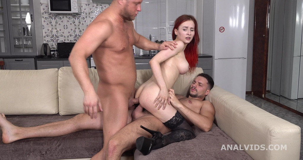 My first DP, Rayana Bang first time DP with Balls Deep Anal, Gapes and Cum in Mouth GL267