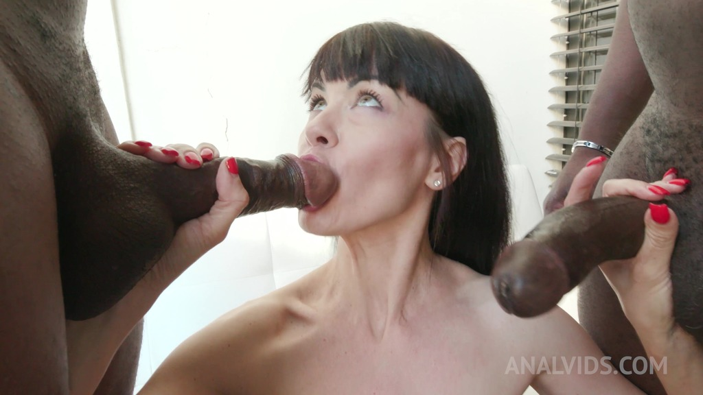 Sasha Colibri has kinky sex with black bulls KS042