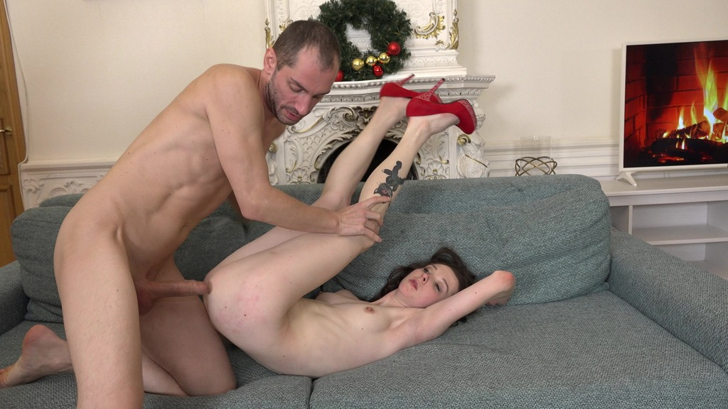 Double Penetration into skinny beauty Ekaterina Smit. 4on1 (balls deep, rough, hard, deep throat) NRX068