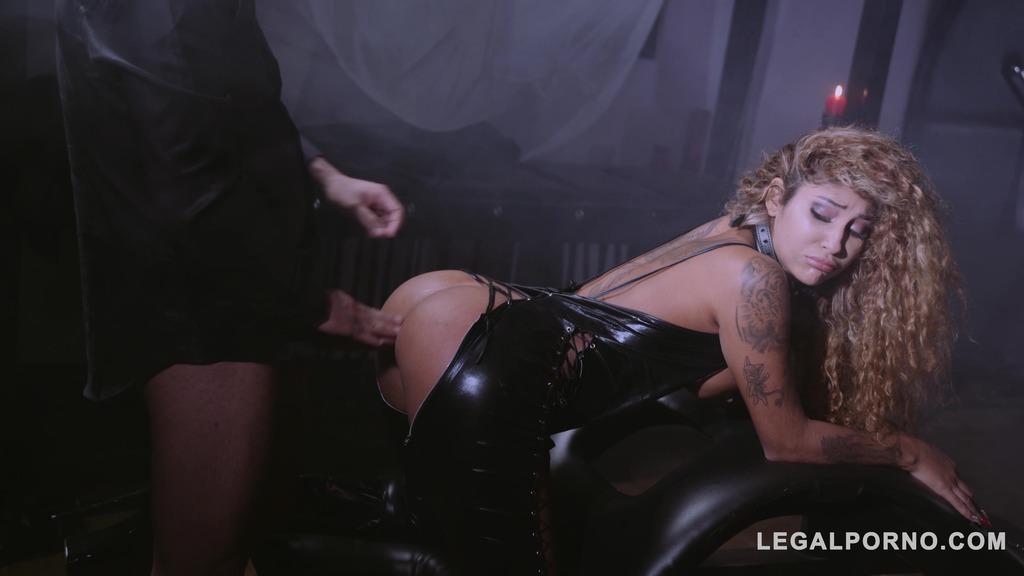 Venus Afrodita gagged, spanked & fucked by dominator