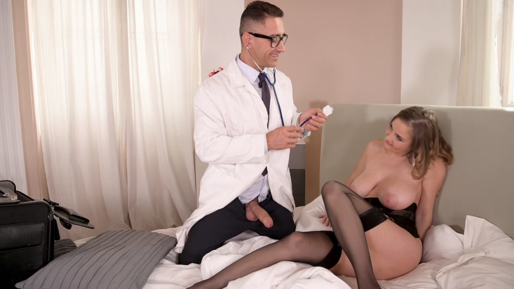 Sexy patient Candy Alexa gets her tight asshole fucked balls deep by Doctor GP1027