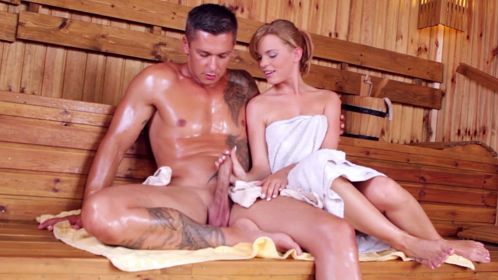 Top notch blonde babe Baby Dream rides mature man's veiny cock at the spa GP960
