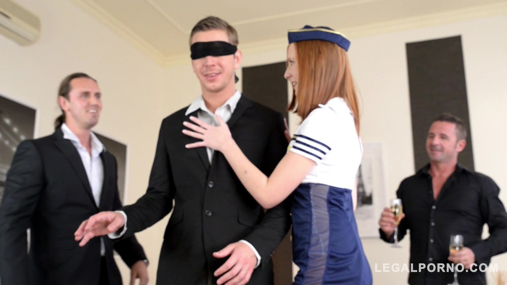 Redhead Linda Sweet turns Bachelors party into double penetration orgy GP572