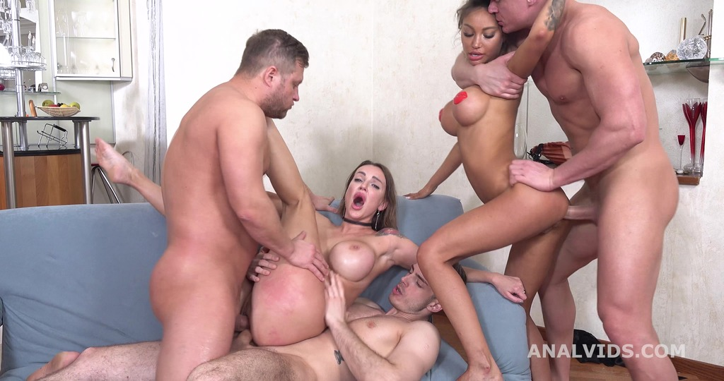 Wild Russia, Monika Fox and Elen Million go Crazy with Balls Deep Anal, DAP, ButtRose, Squirting and Swallow GL389