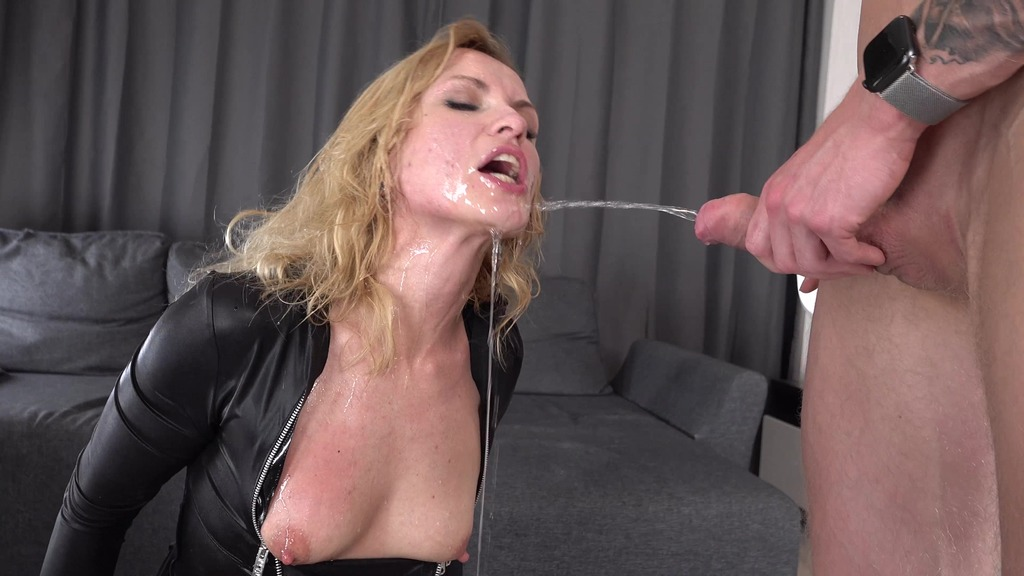 First DP Three Cocks for Alika Alba - Pissing, Drinking + Squirting - Hard...