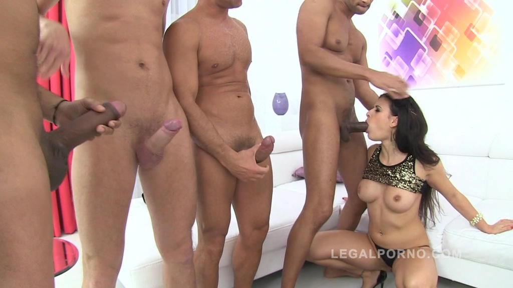 Billie Star ate cum from 7 guys