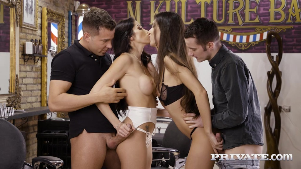 Anya Krey and Clea Gaultier, Orgy at the Salon