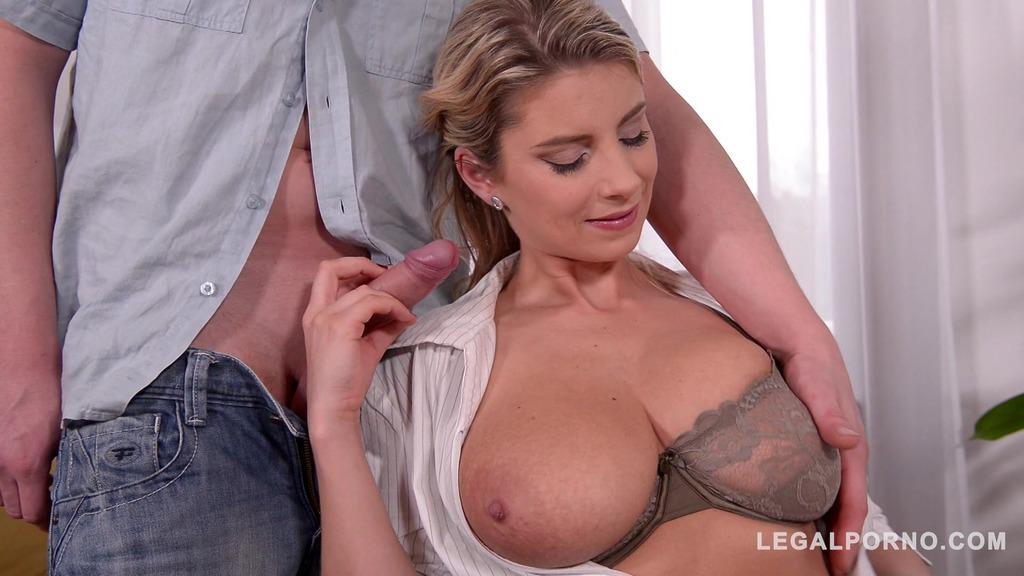 Busty sensual sex goddess Katerina Hartlova rides cock & gets tits fucked GP499