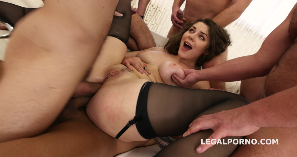 Sofya Curly 5on1 Welcome to Porn with Balls Deep Anal / DP Breaking / Dap...