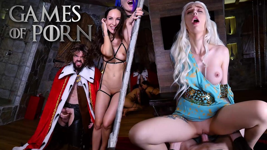 GameOfPorn #2: Daenerys licked and fucked in the ass. Nude slaves give blowjobs to the King of the North JMC023