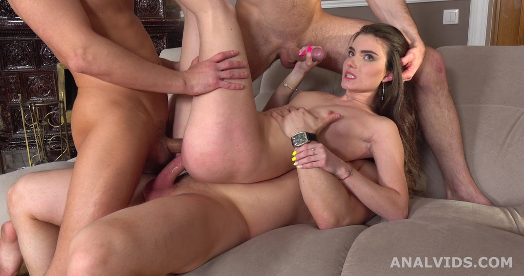 That's a DAP, isn't it? Nata Paradise first time 2 dicks in the ass with Balls Deep Anal, Gapes and Swallow GL178