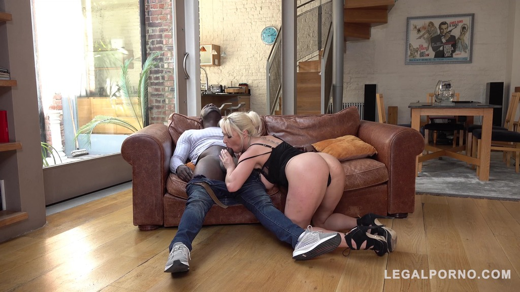 Busty Wife Victoria Summers gets interracial Throat Fuck to the Balls GP015