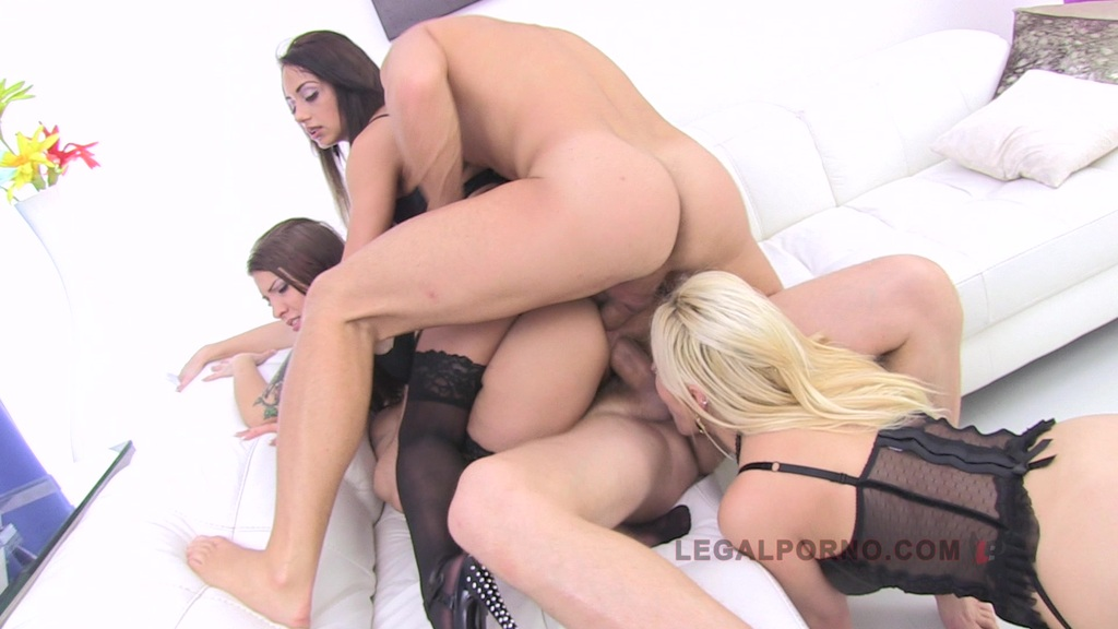 Cheryl Sweet,Dominica Phoenix, Nomi Melone Triple Stacked