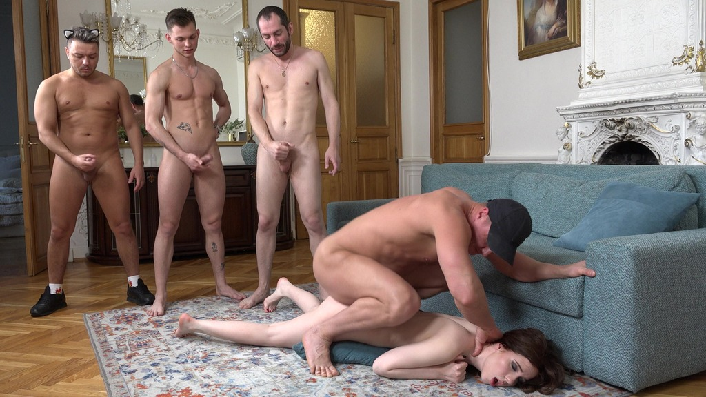 """DAP Breaking cute kitty Jessie Way """"Hard Meow""""! Double anal, Rimming, 0% pussy NRX109"""