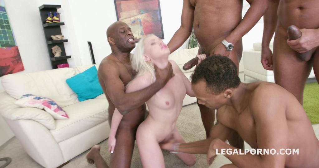 Blackbusters 4on1 Lola Taylor gets it ball deep DP /DAP /DT /Creampie /Swallow. She likes big black cocks! GIO323