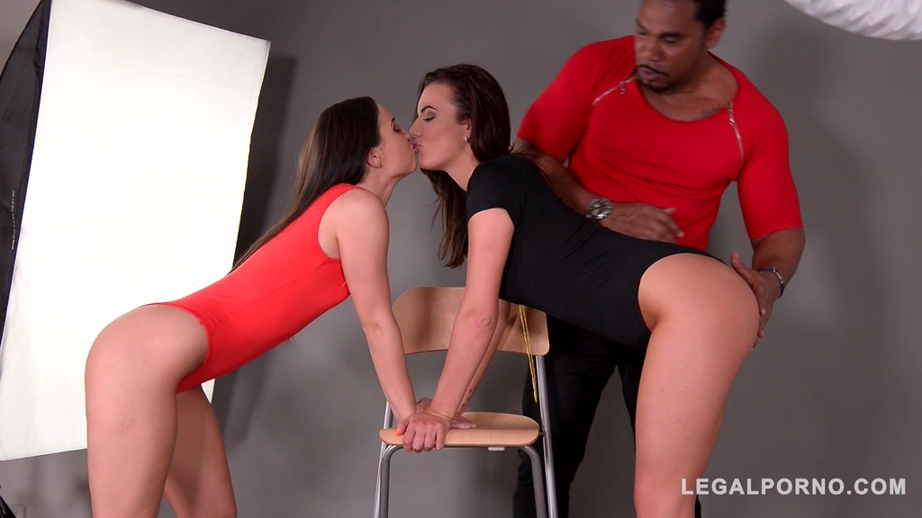 Pussy eating & fucking at photo studio with Vanessa Decker & Kristy Black GP406