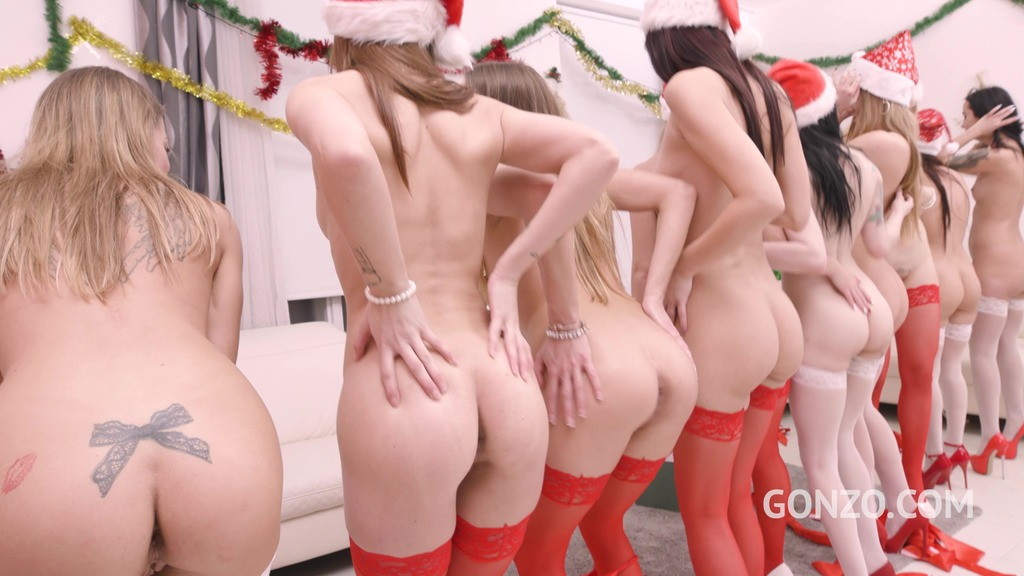 Gonzo.com XXXMas 2020 Party - 10 Versus 10 Anal Orgy - Drinks Included! SZ2590