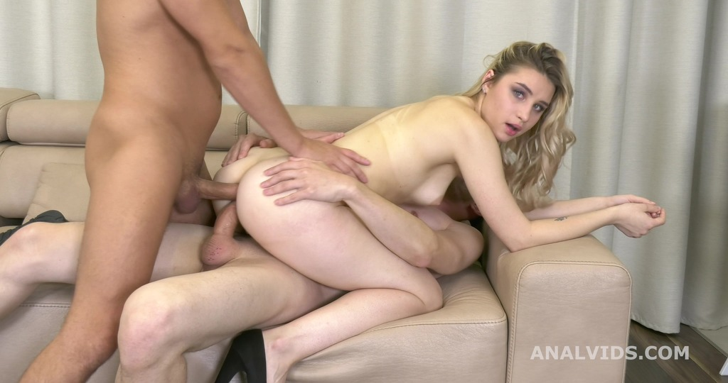 Russian DAP, Whiteneko First Time Double Anal, with Balls Deep Anal, Gapes...